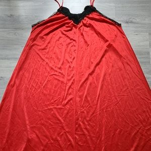 Long Red Nightgown